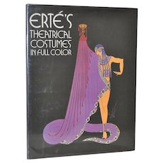 Erte Signed Theatrical Costumes in Full Color Book