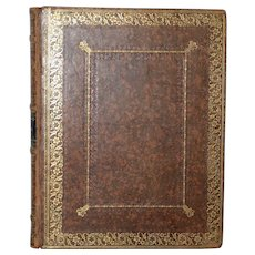Mid 19th Century Ladies Album Hand Made Leather Bound c.1830s