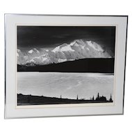 "Robert Werling ""Mount McKinley Sunrise, Alaska"" Black & White Silver Gelatin Photograph"
