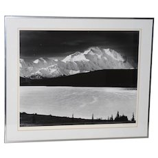 "Robert Werling ""Mount McKinley Sunrise, Alaska"" Black & White Silver Gelatin Photograph"
