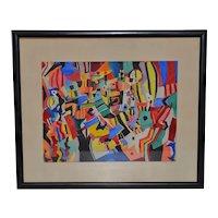 "Everett Charles Boyd ""Mardi Gras"" Original Abstract Watercolor"