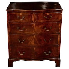 19th Century Federal Chest of Drawers w/ Serpentine Front and Inlay