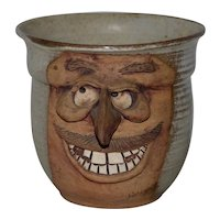 Hand Made Ceramic Caricature Flower Pot by Rogers