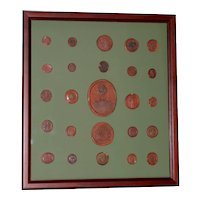 Fine Collection of 19th Century Wax Seals