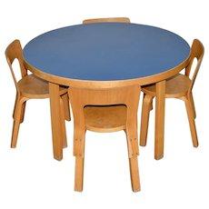 Vintage Alvar Aalto Children's Table & Chair Set c.1930s