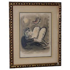 "Marc Chagall (1887-1985) ""Moses"" Lithograph c.1960s"