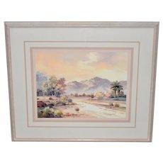 James Lee Sonoran Desert Landscape Oil Painting