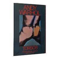 "Andy Warhol Signed ""Torsos"" Exhibition Poster c.1977"