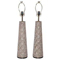 Pair of Designer Table Lamps by James Mont