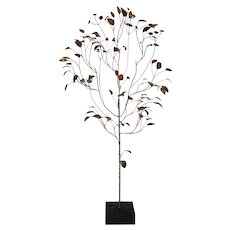Curtis Jere (1910-2008) Copper Metalwork Free Standing Tree c.1967