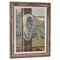 "Stephen Etnier ""Studio Window"" Original Oil Painting c.1932"