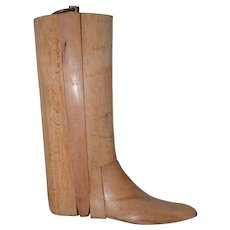 Vintage English Riding Boot Tree / Stretcher c.1930