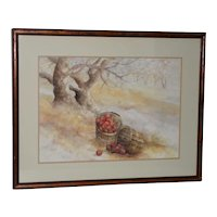 "Maxine Remont Macway (American, 20th c.) ""Forgotten Baskets"" Original Watercolor"