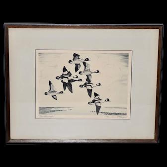 "Churchill Ettinger (American, 1903-1984) ""Butterballs"" Etching c.1940"