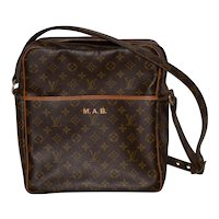 Louis Vuitton Leather Shoulder Bag w/ Adjustable Strap