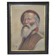 Italian School (early 20th c.) Male Portrait