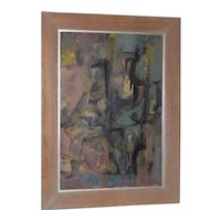 Ken Reid Mid Century Modern Figural Abstract Oil Painting c.1957