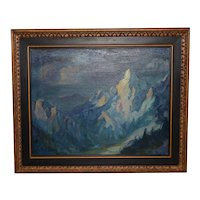 Hal Reed (1921-2003) Western Mountain Landscape Oil Painting