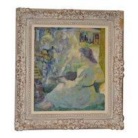 """Luigi Corbellini (1901-1968) """"The White Horse"""" Original Oil Painting c.1950s"""
