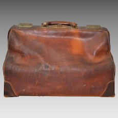 Vintage Leather Doctors Bag c.1930s