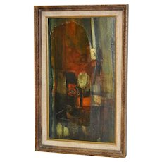 "1960's Gordon Corson ""Cargo East"" Vintage Painting"