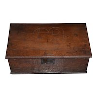 18th Century Carved Walnut Bible Box c.1763