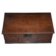 18th Century Carved Walnut Bible Box c.1763