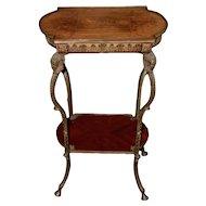 French Kingwood Side Table w/ Brass Mounts c.1880