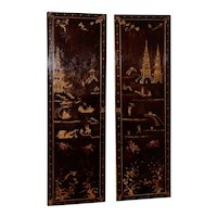 Impressive 18th to 19th Century Chinese Hand Painted Wall Panels