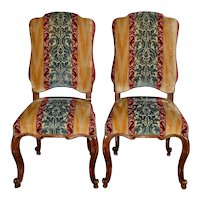Pair of Minton Spidell Carved & Upholstered Side Chairs