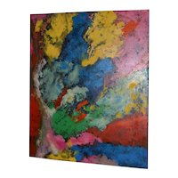 Manor Shadian (b.1931 Iran / California) Modernist Abstract Oil Painting 21st C.