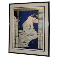 "Morita Haruyo (b. 1945, 森田 春代) ""Natsu n yo"" Japanese Serigraph c.1980s"