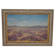 "Robert Weeks ""Desert Verbana"" Original Oil Painting c.1950s"