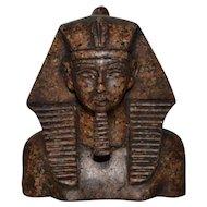 Carved Granite Pharaoh Sculpture