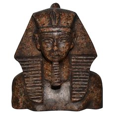 Carved Granite Pharaoh Sculpture