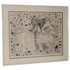 """Pablo PICASSO (1881-1973) """"L`Ecuyère"""" Lithograph c.1960"""
