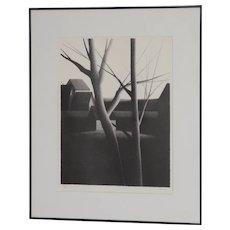 "Robert Kipniss (New York, b.1931) ""Looking"" Pencil Signed Lithograph c.1975"