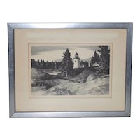 "Stow Wengenroth ""Inlet Light"" Limited Edition Pencil Signed Lithograph c.1937"