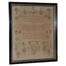 Early 19th Century Sampler by Sarah Price, Aged 10, c. 1812