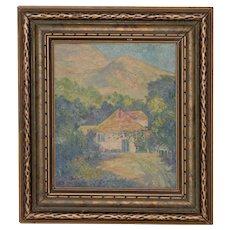 """George Gardner Symons (1863-1930) """"Yonkers, NY"""" Original Oil Painting c.1890s"""