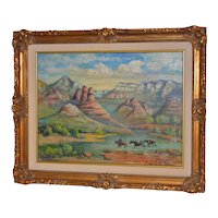 "Arizona Western Landscape ""Near Flagstaff"" Oil Painting by Francoise"