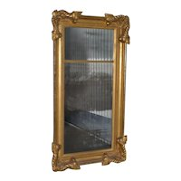 American 19th Century Carved & Gilded Full Length Mirror c.1890s
