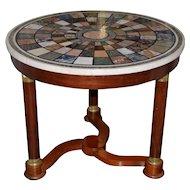 Vintage Center Table w/ Specimen Marble Top