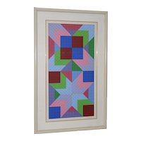"Victor Vasarely (French, 1906-1997) ""The Door"" Original Serigraph Signed / Numberd c.1982"