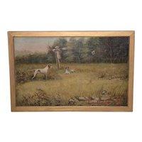 19th Century Landscape w/ Hunter & Dogs