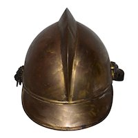 19th Century Brass French Fire Bridage Helmet c.1890s