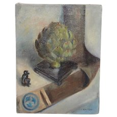 Irina Roudakoff Belotelkin (Russian / American, 1913-2009) Still Life w/ Artichoke c.1960s