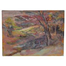 Irina Roudakoff Belotelkin (Russian / American, 1913-2009) Country Landscape c.1960s