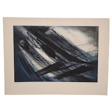 "Terry Haas (Czechoslovakia, b.1923) ""Interspatial"" Etching w/ Aquatint c.1960"