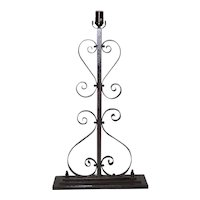 19th Century Decorative French Wrought Iron Lamp Base